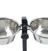 Huismerk H-standaard met voer en drinkbak 28 cm 4 liter
