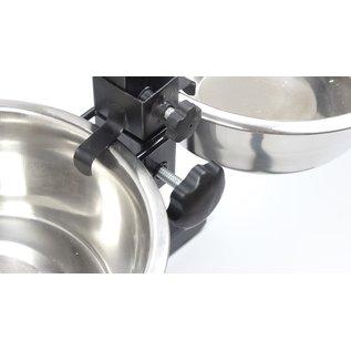 KLD H-standaard met voer en drinkbak 28 cm 4 liter