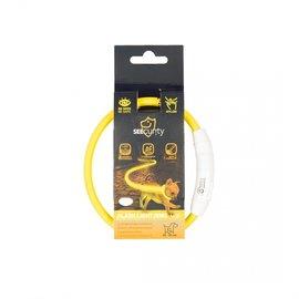 Duvo+ Flash light ring usb nylon Geel 35 cm