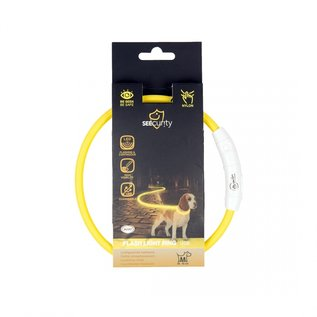 Duvo+ Flash light ring usb nylon Geel 45 cm.