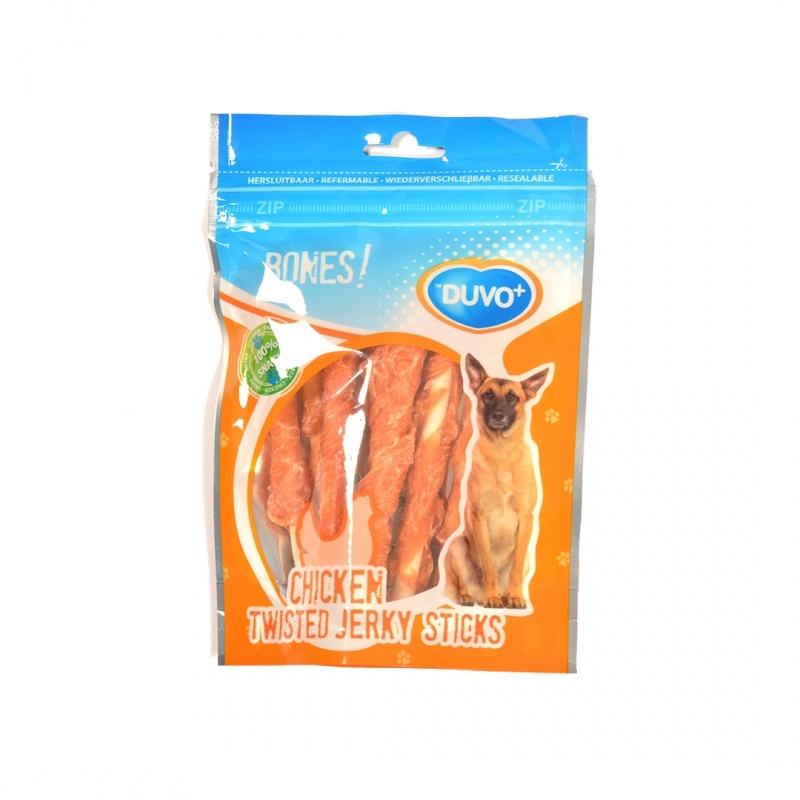 Duvo+ De Twisted chicken jerky Sticks 110 gram