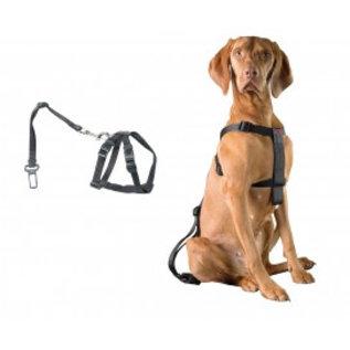 Duvo+ Auto Veiligheidsharnas met gordel voor hond maat L 70-90cm