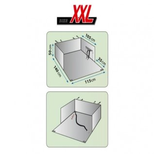 KLD Kofferbak beschermdeken Dexter XXL 115x140 cm
