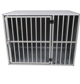 Hundos  Hundos Pro Aluminium Hondenbench model DL maat L 3 zijden dicht