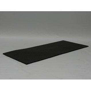Hundos  Antislip Mat Rubber voor Autobench aluminium vast model