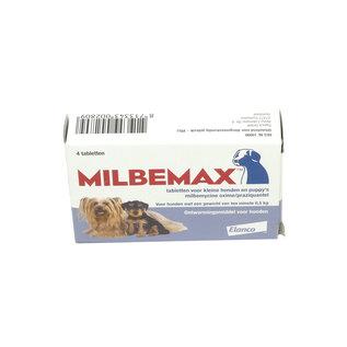 Milbemax Ontwormings tabletten voor kleine honden en puppy's 4 tabl.