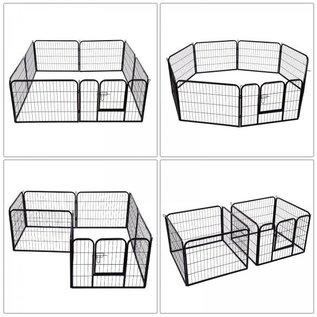 KLD Puppyren 8 panelen van 80 x 60 cm. zwart