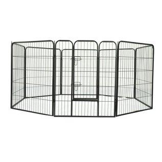 KLD Puppyren 8 panelen van 80 x 100 cm. zwart