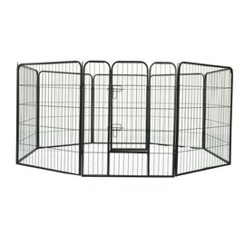 KLD Puppyren 8 panelen van 77 x 100 cm. zwart