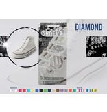 Shoeps Elastische veter Diamond wit