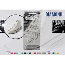 Elastische veter Diamond wit