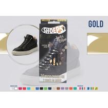 Elastische veter zwart Gold