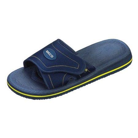 Beco slipper blauw/geel