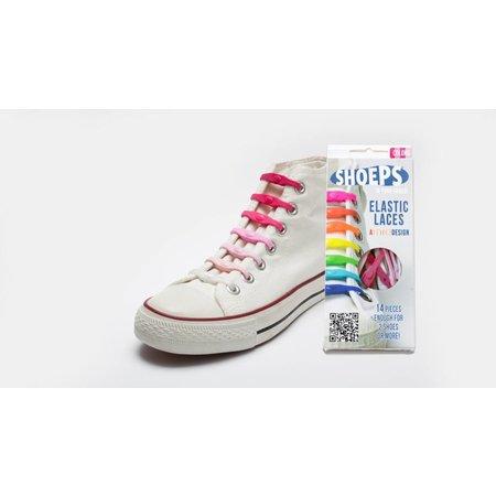 Shoeps Elastische veter Pink mix