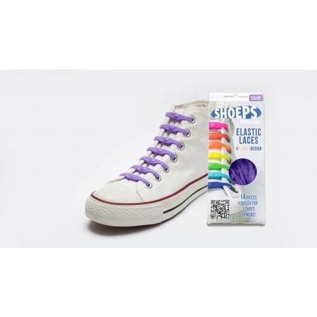 Shoeps Elastische veter Purple rain