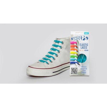 Shoeps Elastische veter Aqua blue