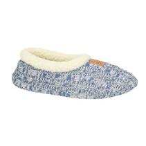 Spaanse slof blauw gemeleerd textiel