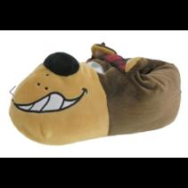 Hond bruin dieren pantoffel