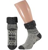 Wollen huis sokken antislip multi kleuren