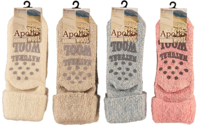 c4e8b0012f4 Wollen huis sokken antislip