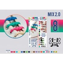Elastische veter mix 2.0 8 stuks