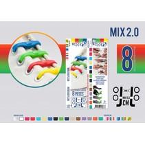 Elastische veter mix regenboog 8 stuks