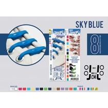Elastische veter sky blue 8 stuks