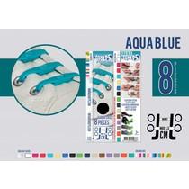 Elastische veter aqua blue 8 stuks