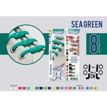 Elastische veter sea green 8 stuks