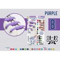 Elastische veter purple rain 8 stuks