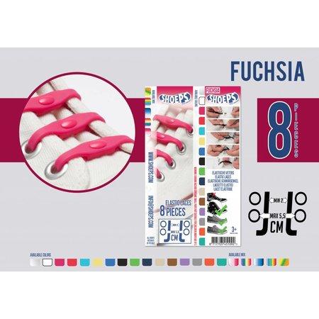 Shoeps Elastische veter fuchsia 8 stuks