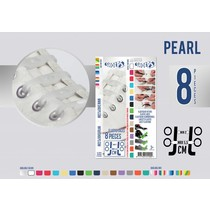 Elastische veter pearl 8 stuks