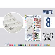 Elastische veter wit 8 stuks