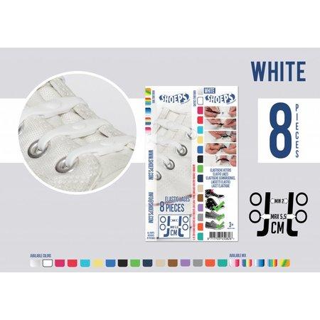 Shoeps Elastische veter wit 8 stuks