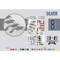Elastische veter zilver 8 stuks