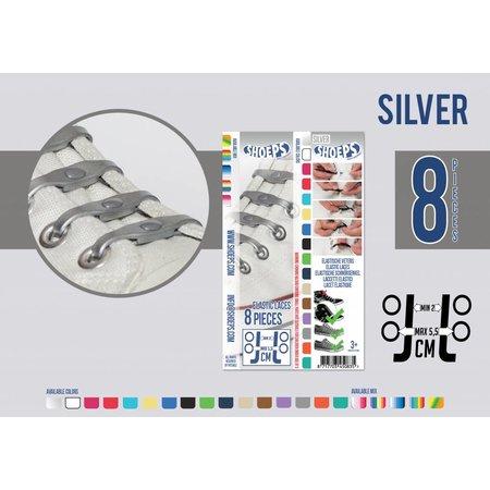 Shoeps Elastische veter zilver 8 stuks