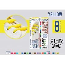Elastische veter geel 8 stuks