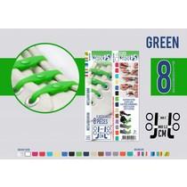 Elastische veter groen 8 stuks
