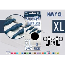 Elastische veter navy blue 8 stuks XL