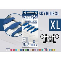 Elastische veter sky blue 8 stuks XL