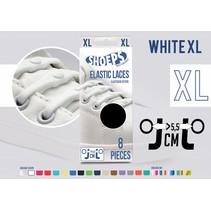 Elastische veter wit 8 stuks XL