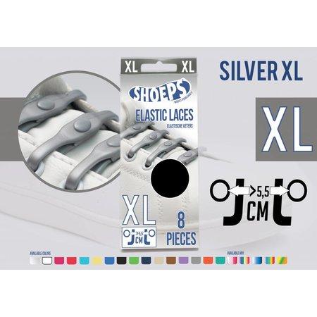Shoeps Elastische veter zilver 8 stuks XL