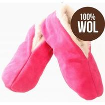 Spaanse sloffen 100% wollen voering roze