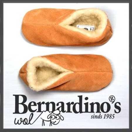 Bernardino Spaanse sloffen 100% wollen voering beige