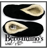 Bernardino Spaanse sloffen 100% wollen voering zwart