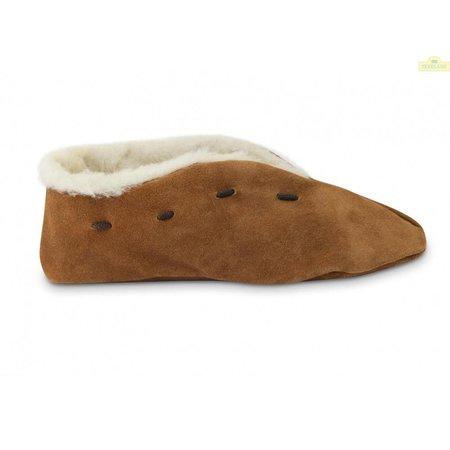 Texelaar Texelse Spaanse sloffen 100% wol bruin