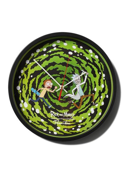 Primitive Rick & Morty Wall Clock