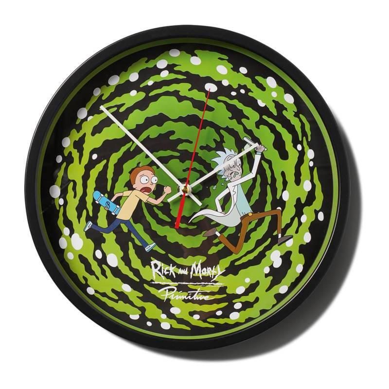 Primitive Rick & Morty Wall Clock