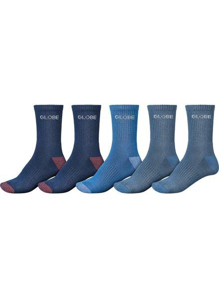 Globe Globe Blues Crew Sock 5 Pack