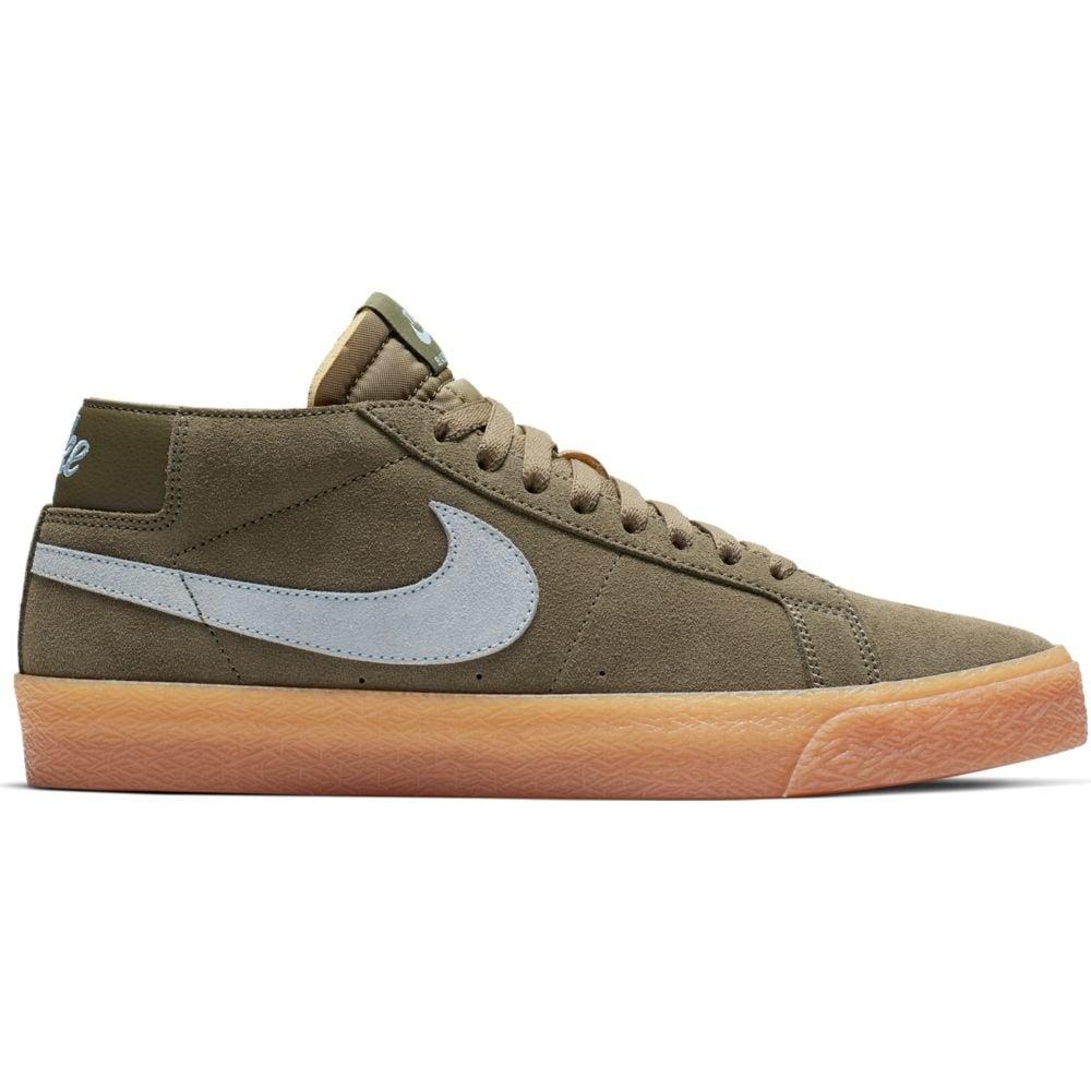 814790ae78e29 Nike SB Zoom Blazer Chukka Medium Olive   LT Armory Blue ...